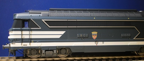 Locomotive diesel BB 67530  Strasbourg  blason Romilly -