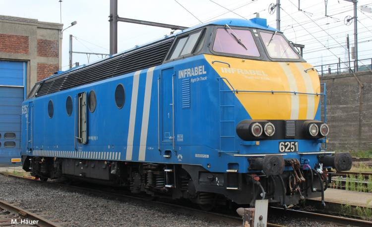 SNCB locomotive diesel INFRABEL -
