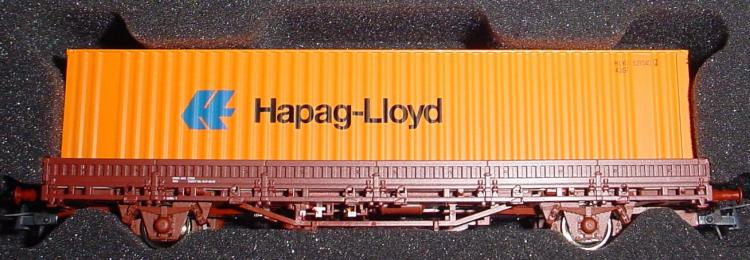 RENFE wagon plat à 2 essieux + container Hapag-Lloyd  ep  V - Roco