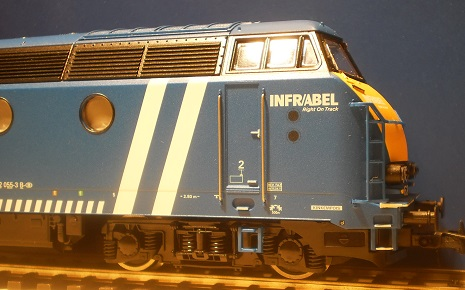 SNCB locomotive diesel  6255  INFRABEL -